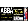 ABBA Tribute Harbour Cruise Inc. Buffet and 80s DJ at 49.00p.p Summer Edition